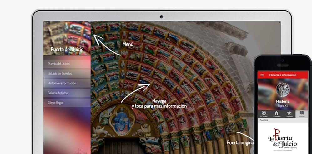 aplicación web Puerta del Juicio