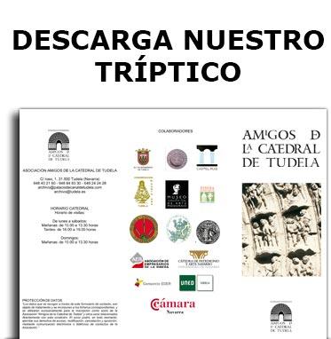 triptico-asociación amigos de la catedral de Tudela